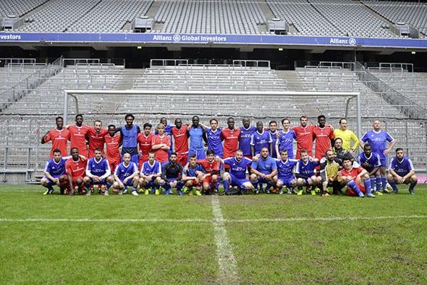 Fußballspiel FC Bayernkaserne in der Allianzarena